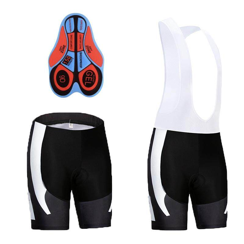 0795fb20718e 9D Gel Pad Men Bike Short Pants MTB Bike Bicycle Cycling Bib Shorts (Black)