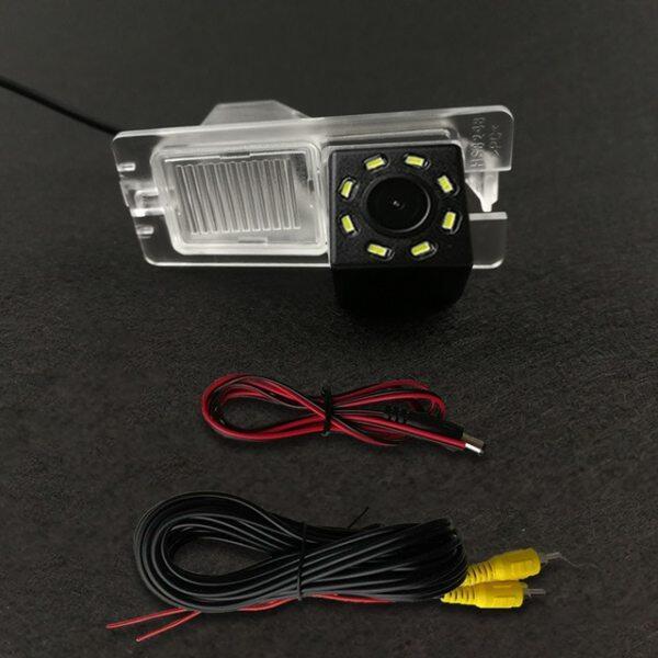 Camera Lùi Quan Sát Phía Sau Dự Phòng Nhìn Ban Đêm 4 Đèn LED CCD Cho Xe Hơi HD, Đỗ Xe Không Thấm Nước Dành Cho Ssangyong Rexton Kyron Korando Actyon