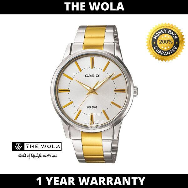 Casio Mens Analog MTP-1303SG-7AVDF Stainless Steel Band Gold Watch (watch for man / jam tangan lelaki / casio watch for men / casio watch / men watch) Malaysia