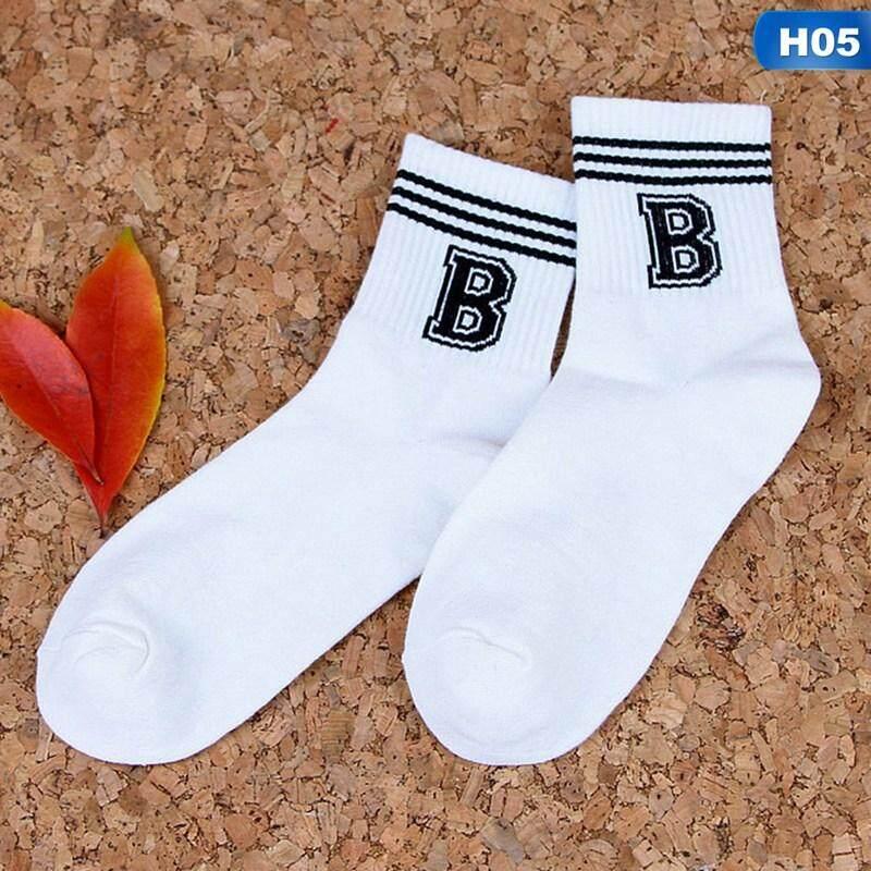 da300998204 Letter Stripe Pattern Cotton Socks Casual Female Sock Couples With Harajuku Sport  Socks