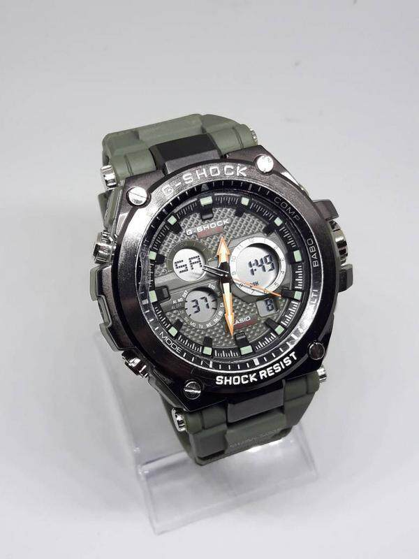 Casio G-SHOCK_MTG Shock Resistant Fully Stainless Steel & Good Quality Rubber Strip Dual Time Dual Time Display Fashion Casual Watch For Men Ready Stock Malaysia