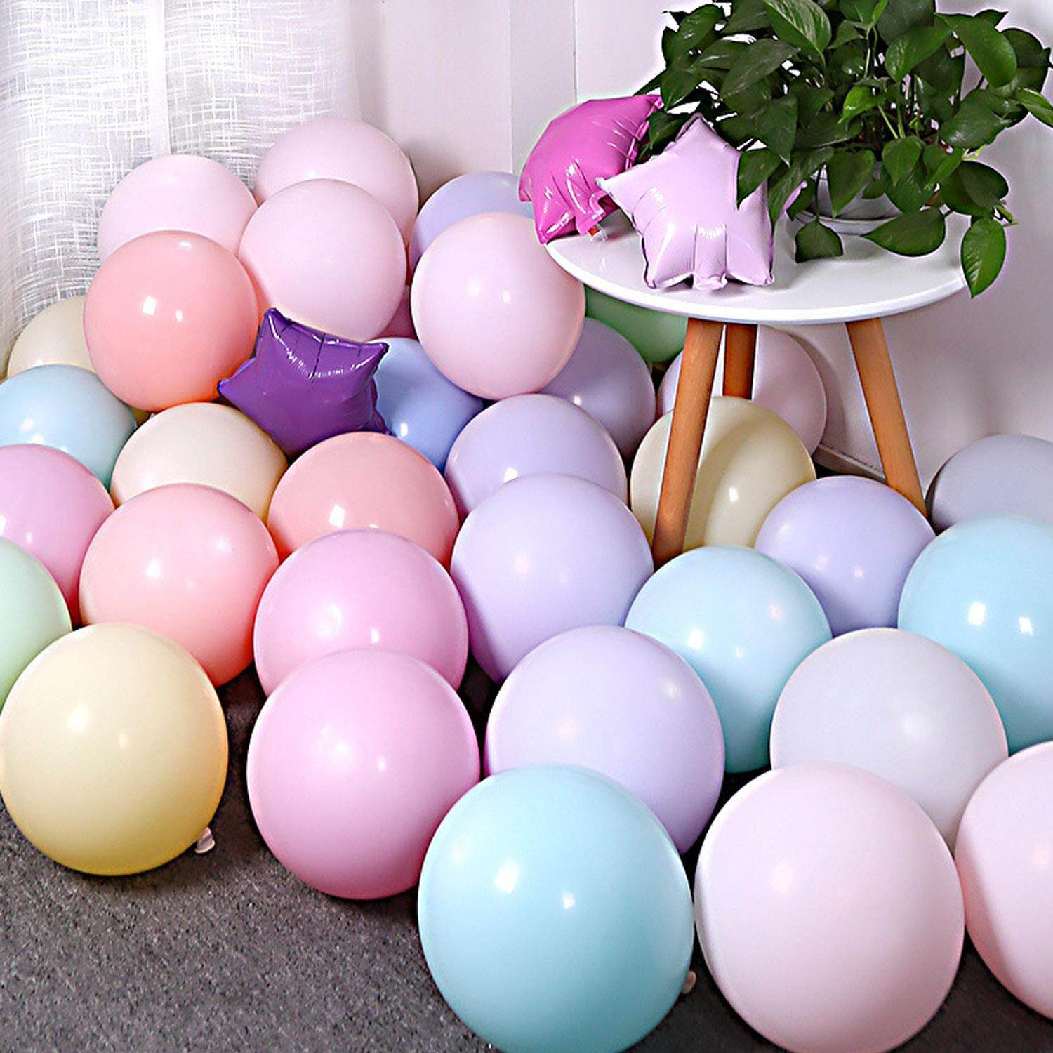 100pcs Vococal 10 Inches Cute Lovely Assorted Macarons Candy Colored Latex Party Balloons For Wedding Graduation
