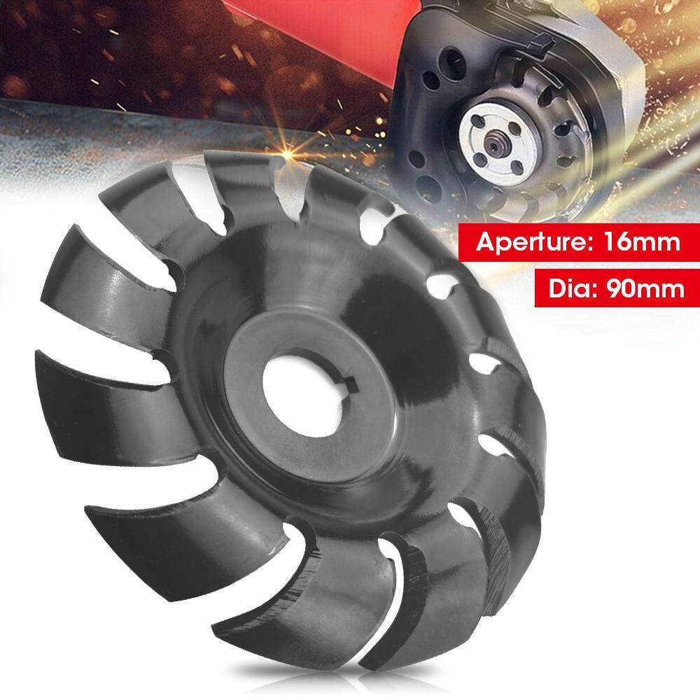 OrzBuy 12 teeth 16mm Bore Shaping Disc 90mm Angle Grinder Disc Wood Carving Tool size: 9x9x1cm