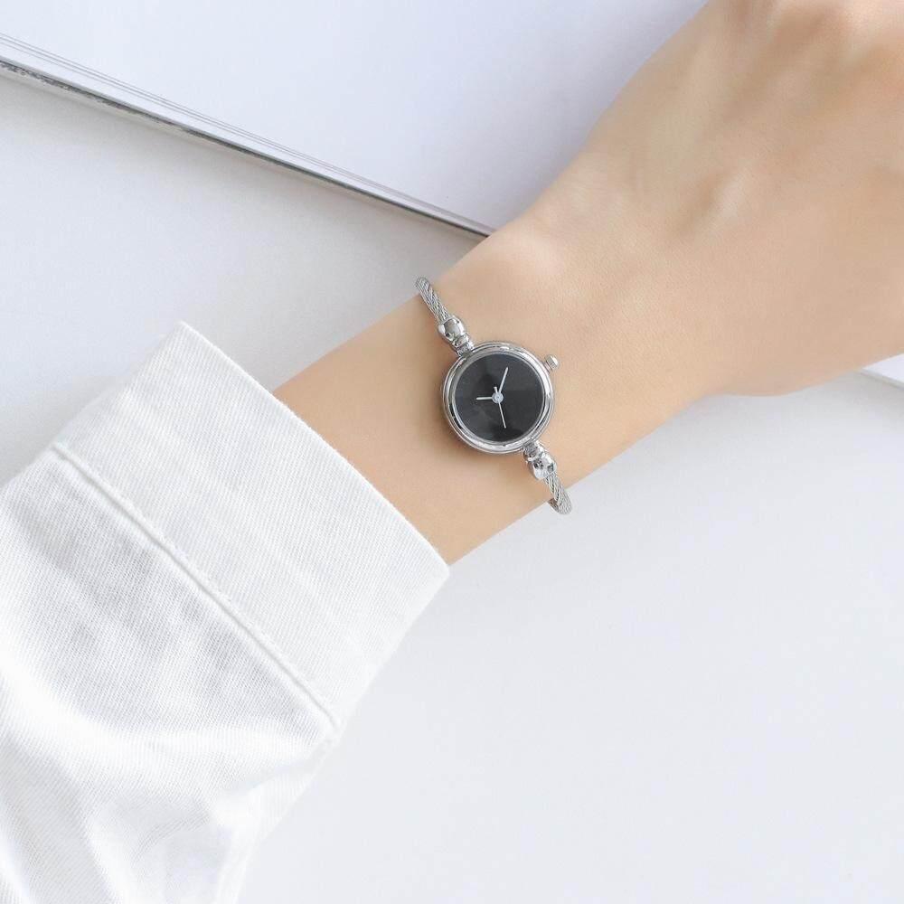 Women silicone round wrist watch girl stainless steel light wristwatch 10m waterproof clock free shipping Malaysia