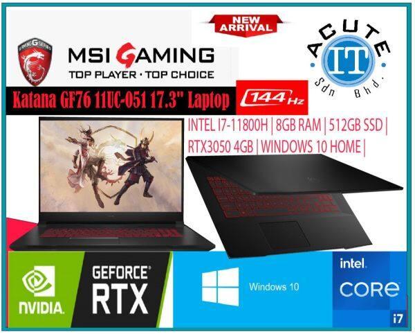 MSI GF76 11UC 051 17.3 FHD 144Hz Gaming Laptop Malaysia