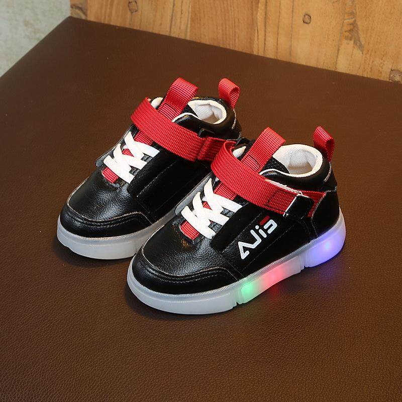 Children Boys/girls Spring Fashion Sport Led Lamp Leisure Anti-Skid Shoes By Woowfunny.