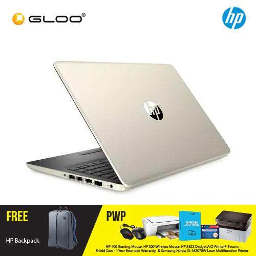 NEW HP 14s-dk0071AU / 14s-dk0072AU 14 FHD Laptop (Ryzen5-3500U, 1TB, 4GB, AMD Radeon Vega 8, W10) - (Silver/Gold) [FREE] HP Backpack + Complimentary Premium Merchandise Gift (C-Shaped Handle, Inverted Umbrella)* Malaysia