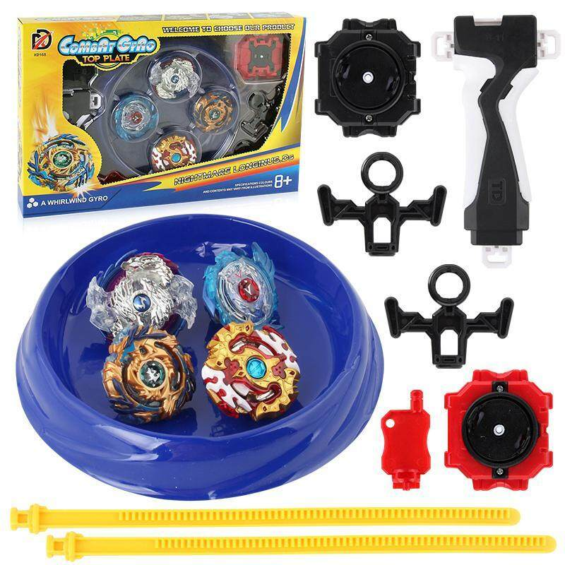 Fortunet Burst Gyro Toy With Gyro Set,4 In 1 Luxury Gyro Set Burst Gyroscopic Beyblade Set With Reverse Transmitter By Fortunet.