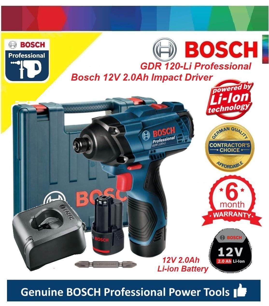 New Bosch GDR 12V 2.0Ah Cordless Compact Hex Impact Driver, Cordless Impact Driver