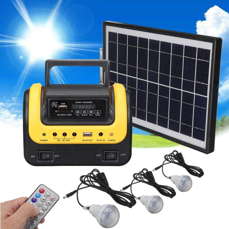 【Free Shipping + Flash Deal 】Portable Solar Panels Charging Generator Power System Outdoor Lighting LED MP3 NEW