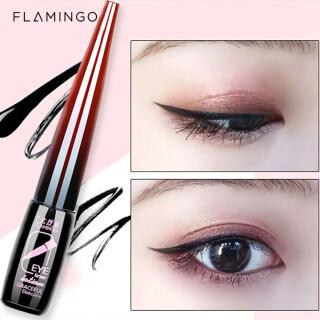 Bút Kẻ Mắt Dạng Lỏng Flamingo Không Thấm Nước, Bút Kẻ Mắt Dạng Lỏng Nhanh Khô Lâu Trôi (Màu Đen Nâu) thumbnail