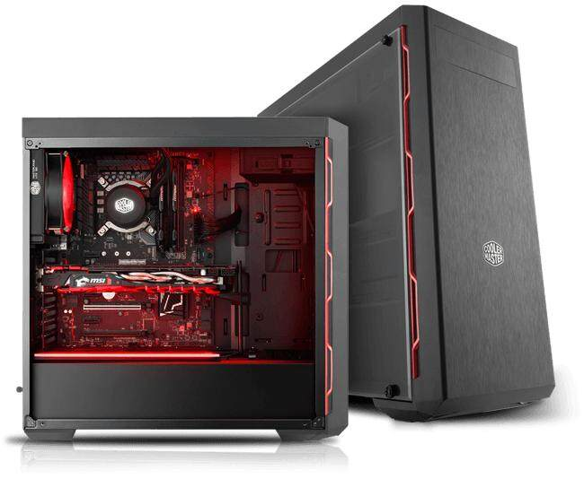 COOLER MASTER MASTERBOX MB600L (W/ ODD) RED CHASSIS Malaysia