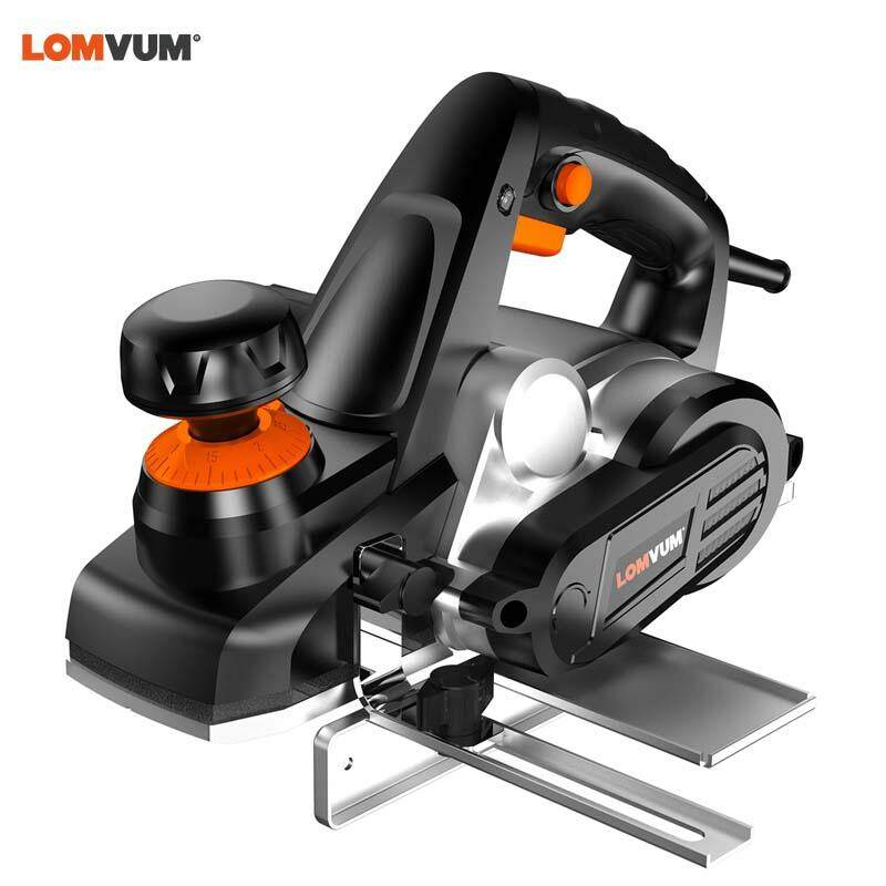 LOMVUM New 750W Powerful Electric Wood Planer Multifunctional Electric Planer Powerful Wooden Handheld Carpenter Woodworking File Tool Home DIY Tool Kits