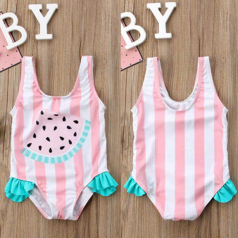 Cute Toddler Baby Girls Watermelon Swimsuit Swimwear Swimming One-Piece Bikini By Nikit.