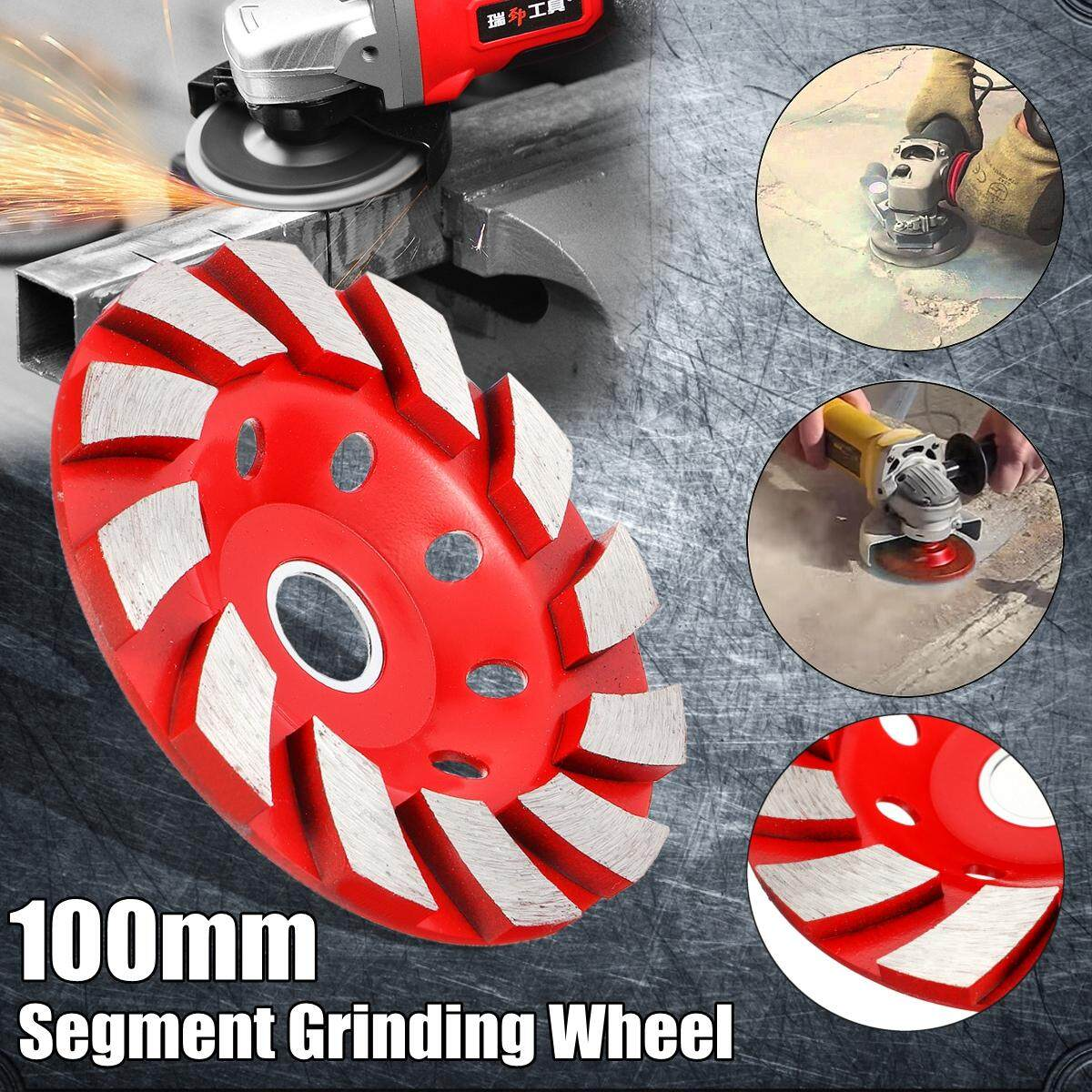 100mm/4 inch 8 Holes HHS Segment Grinding Wheel Grind Cup Disc