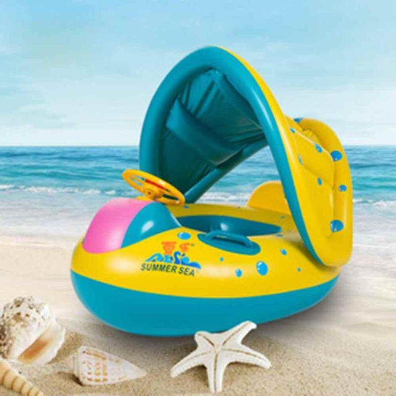 yuci Sunshade Baby Sitting Circle Swimming Laps Sunscreen Child Seat Baby Swimming Float Boat Circle & Baby Swimming Seat Boat Singapore
