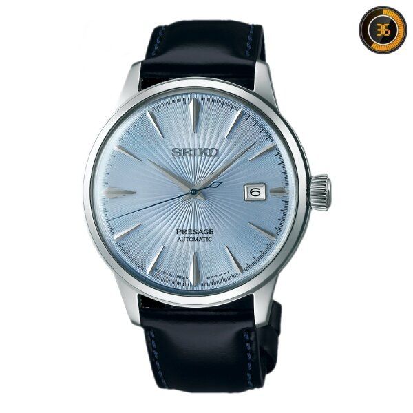 NEW Seiko Presage Mens Leather Watch Cocktail Series The SkyDiving Ice Blue Dial SRPB43J1 Malaysia