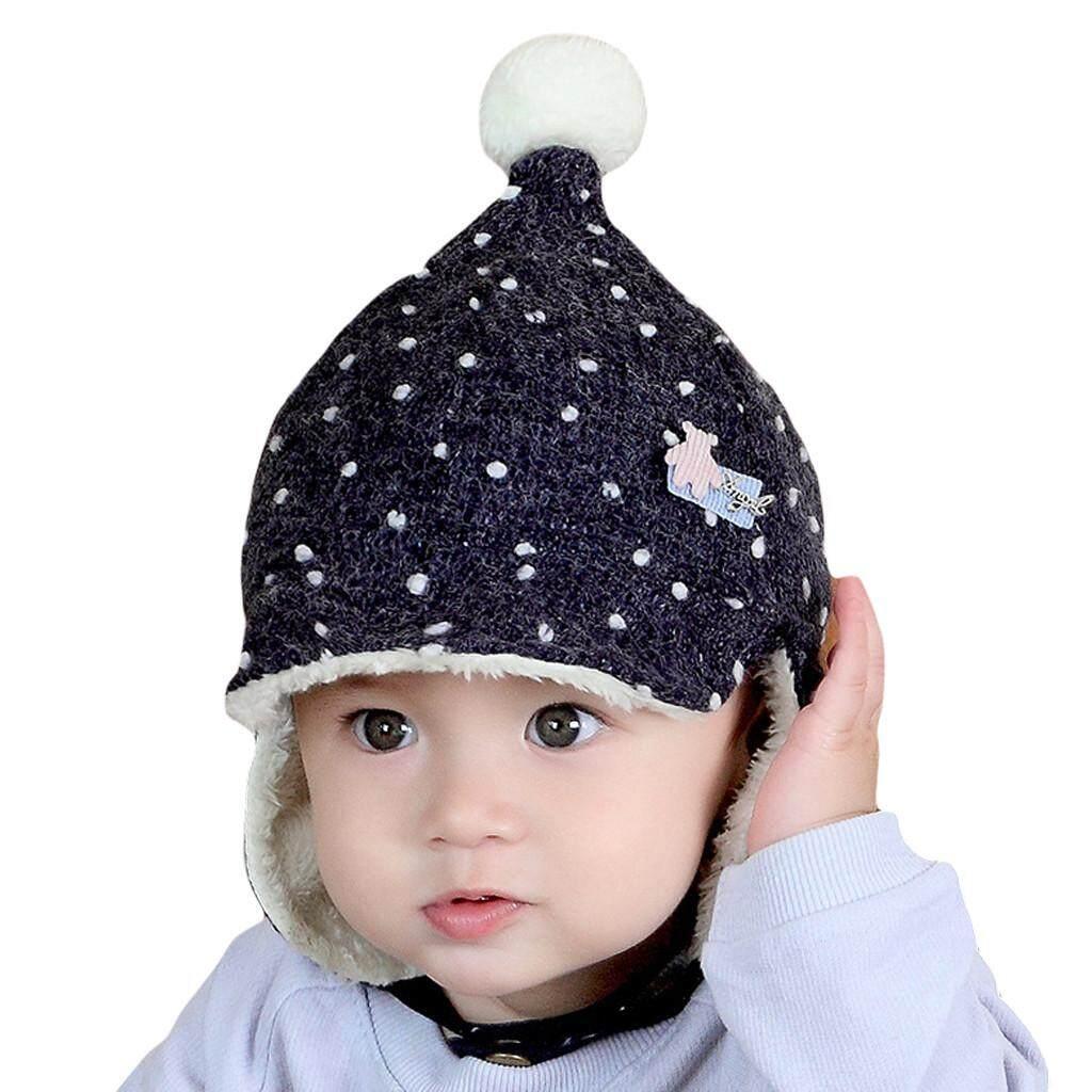 Stonershop Topi Penutup Telinga Anak Perempuan Balita Bayi Laki-laki Kit  NVR Wifi Rambut Topi 906963a7ff