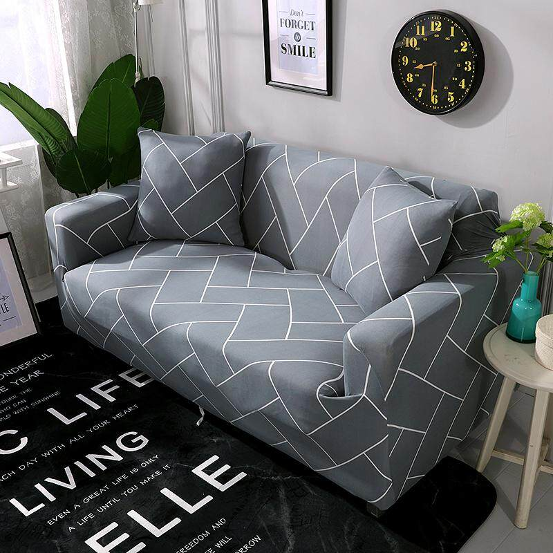 For 1/2/3/4 Seaters Elastic Washable Non Slip Sofa Cover Easy to Install Colorful Sofa Slipcovers Home Decoration With 1 Cushion Cover