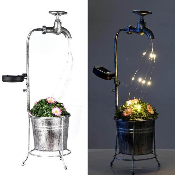 Đèn Nghệ Thuật Vòi Hoa Sen Vườn PHOME, Đèn LED Trang Trí Bình Tưới Nước
