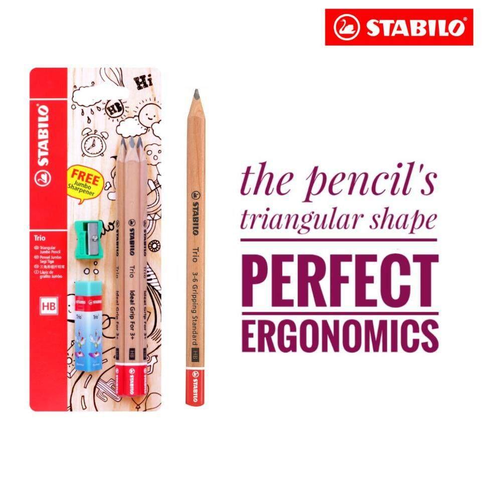 Stabilo Trio Jumbo Hb Pencils (set Of 3) By Stabilo Malaysia.