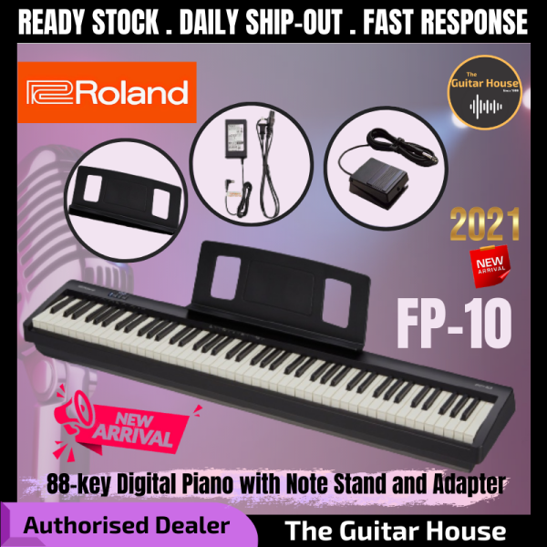Roland FP-10 88-key Digital Piano with Note Stand and Adapter (FP10/FP 10) Malaysia