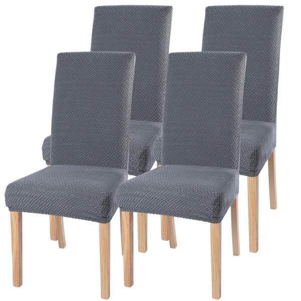 4Pcs Dining Chair Cover Removable Washable Stretch Seat Cover Restaurant Chair Cover