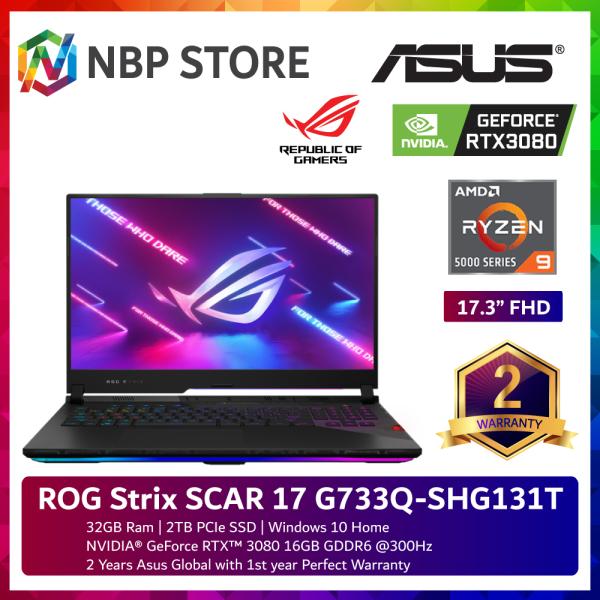 Asus ROG Strix SCAR 17 G733Q-SHG131T 17.3 FHD 300Hz Gaming Laptop ( Ryzen 9 5900HX, 32GB, 2TB SSD, RTX3080 16GB, W10 ) Malaysia