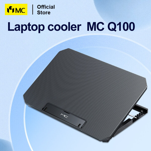 MC Q100  Laptop Cooling Pads Large Size For 12-16 Inch Notebook Silent Gaming Laptop Cooler Wind Speed Adjustable Laptop Cooler Malaysia