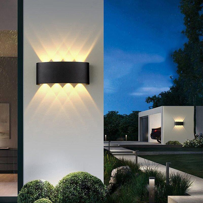 Đèn LED Gắn Tường Đèn Tường 4/6/8W COB Chiếu Sáng Ngoài Trời Trong Nhà, IP65, Nhôm Chống Thấm Nước Để Trang Trí Nội Thất Chiếu Sáng