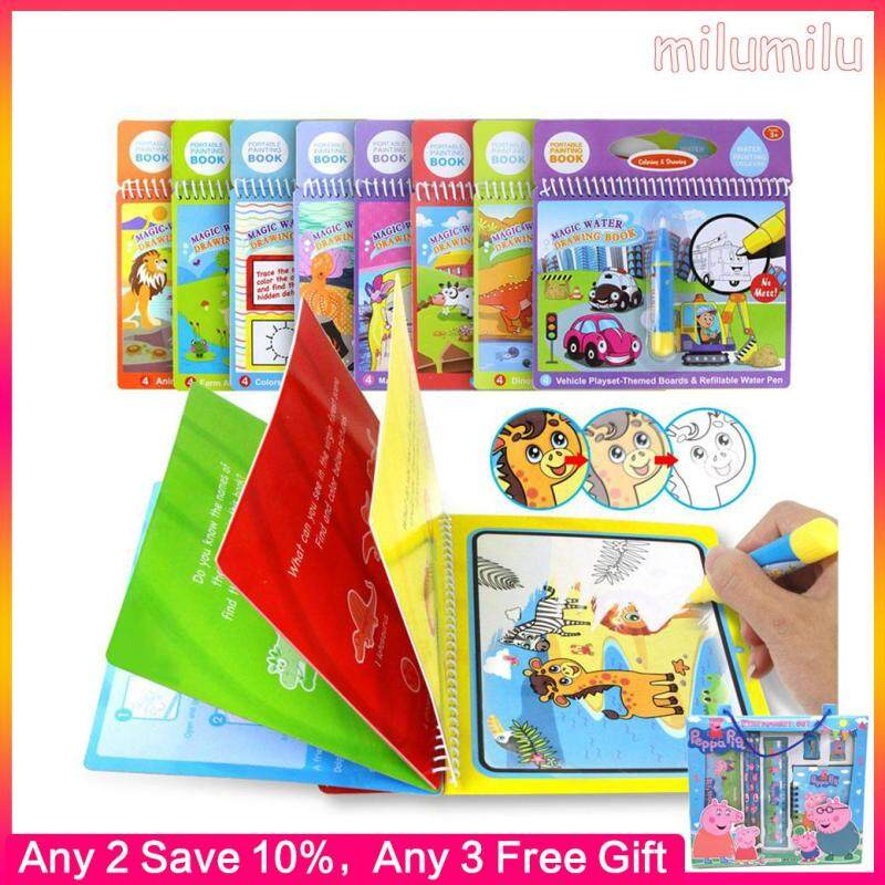 8 Types Magic Water Drawing Book Writing Doodle Book Coloring Board For Children Painting Mat Early Educational Toy for Kids Malaysia