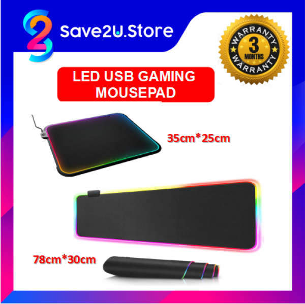 RASURE LED RGB Colorful USB Gaming Mouse Pad for Gamer Malaysia