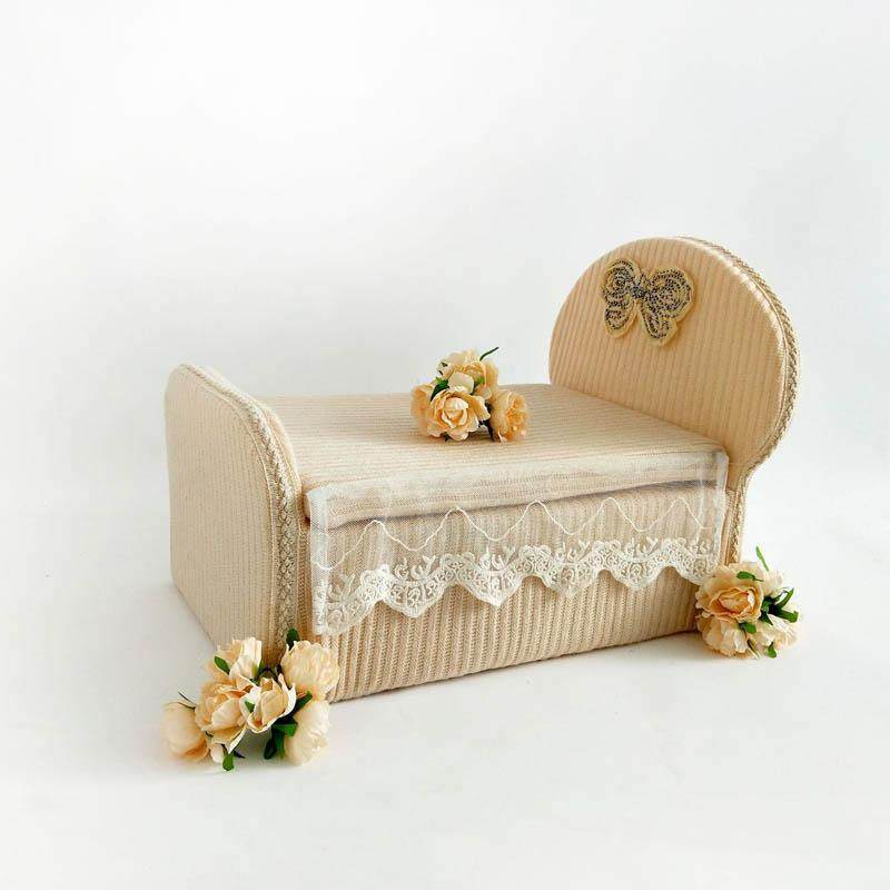 Newborn Photograph Bed Baby Photography Props Baby Mini Cribs Infant Sofa Photography Modeling Accessories