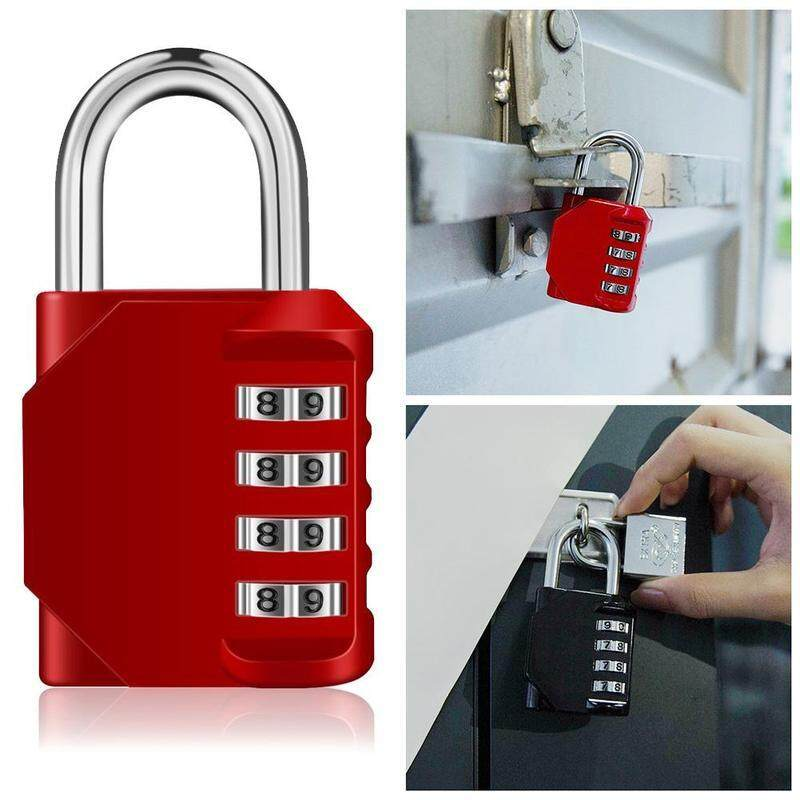 Cabinet door door king size metal password padlock 4 digit combination lock set Reconfigurable combination lock Can be used for gym lockers, school lockers, outdoor staff lockers