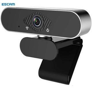 ESCAM Camera Máy Tính USB Full HD 1080P, Webcam Hội Nghị Video Phát Trực Tiếp Xoay 360 Độ Có Micro, Webcam Cho Pc thumbnail