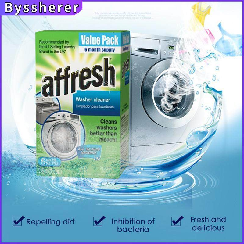 Byssherer 6 pcs Washing Machine Cleaning Tablets Laundry Detergent Effervescent Tablet Cleaner Value Pack
