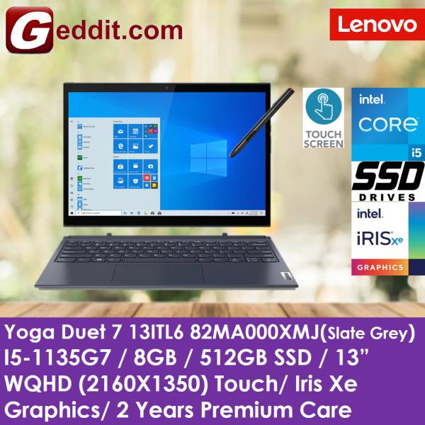 LENOVO YOGA DUET 7i 13ITL6 82MA000XMJ / 82MA000TMJ LAPTOP (I5-1135G7,8GB,512GB SSD,13 WQHD,IRIS XE GRAPHICS,WIN10) (7-13ITL6 / 13ITL6 / DUET7 / 7-13ITL / Duet 7) Malaysia