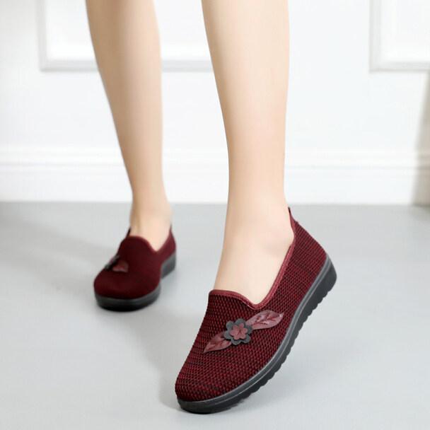 ♧Ông Già Già Giày Nữ Chống Trượt Giày Cho Bà Thoáng Khí Bắc Kinh Cũ Giày Vải Mẹ Già Lò Xo Đơn giá rẻ