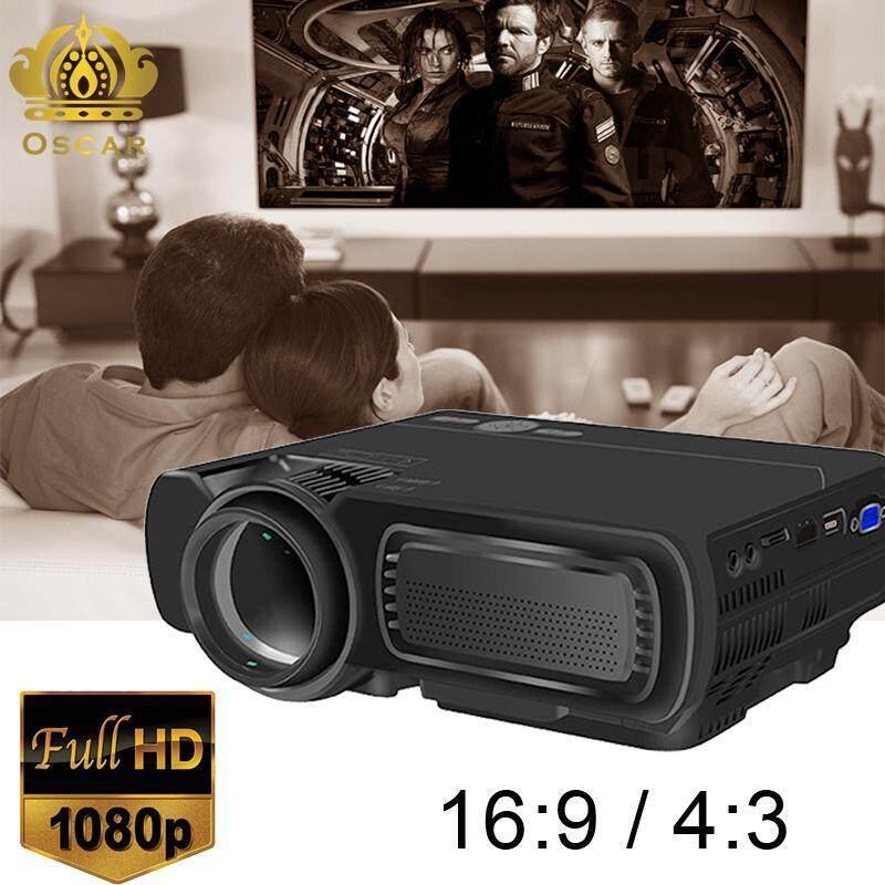 Oscar Toko Mendukung 1080 P LED Merah Biru 3D Proyektor Pintar Multimedia Proyektor Video Dukungan 1080