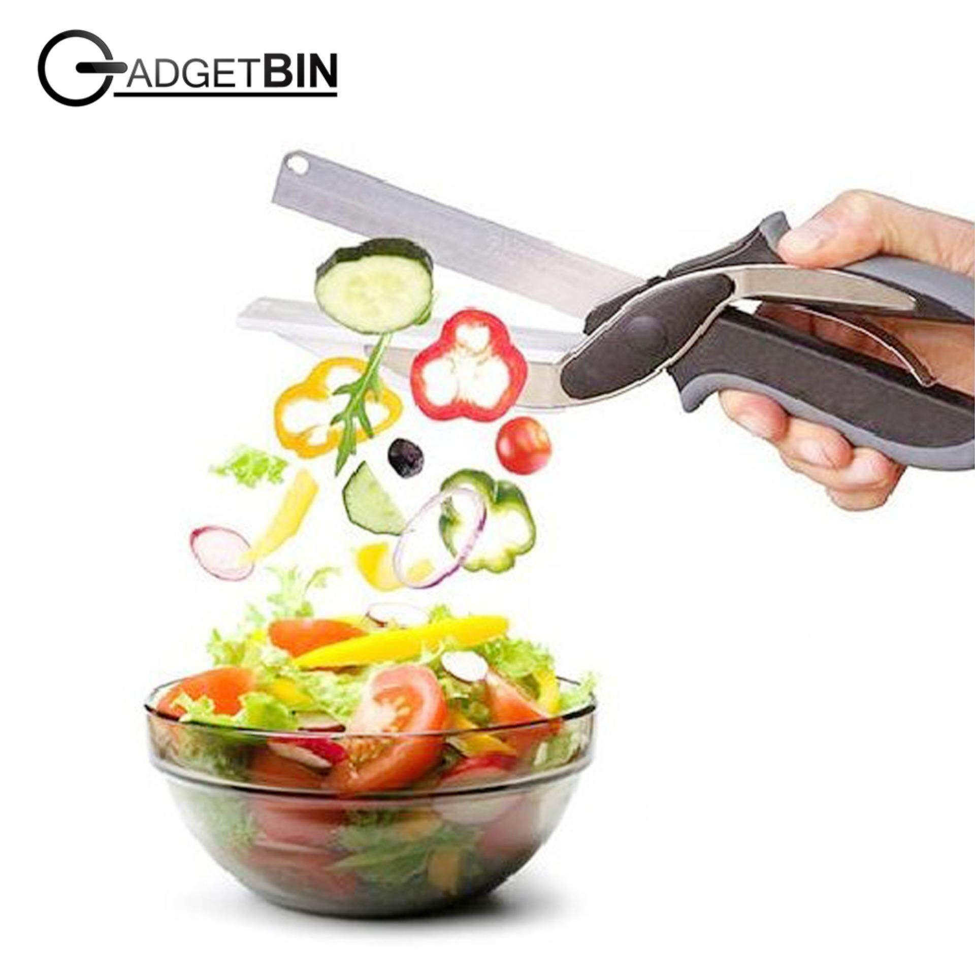 Clever Cutter 2-In-1 Knife & Cutting Board Scissors By Gadgetbin.
