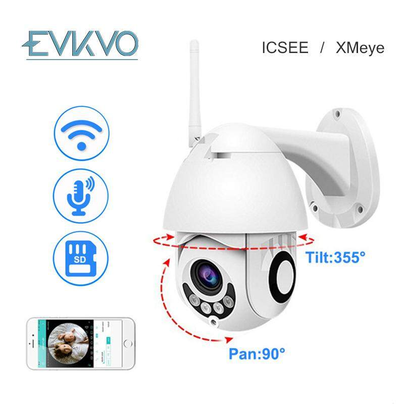 EVKVO - IR Night Vision Full HD 1080P WiFi IP Camera Wireless Wired H.264 Onvif(Card Slot)PTZ Outdoor Speed Dome CCTV Security (App ICSee )