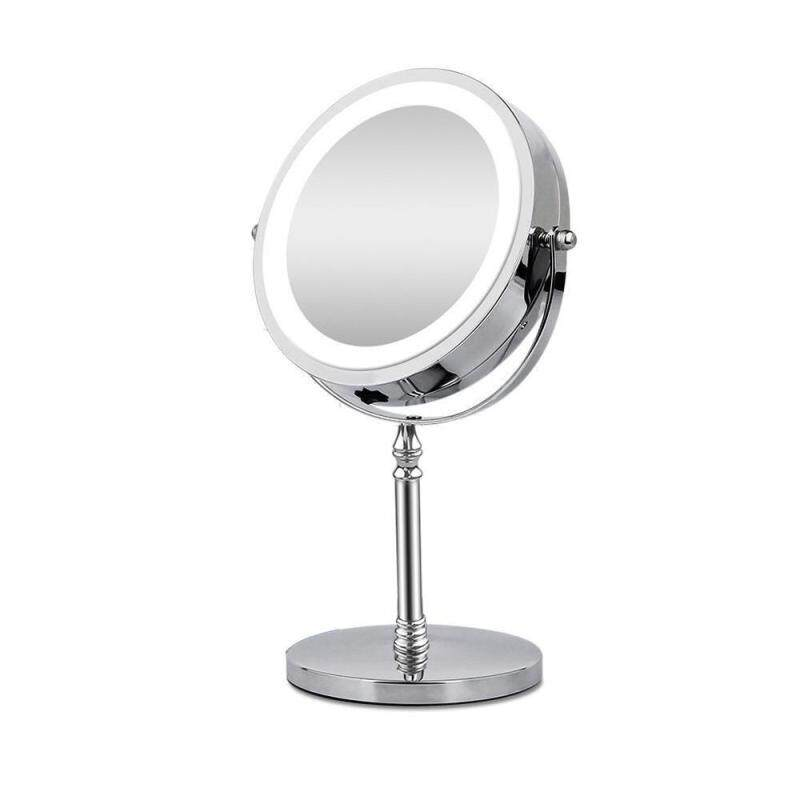 10X Phóng Đại Gương Trang Điểm Có Đèn Led Đựng Mỹ Phẩm Gương Hình Vòng Tròn Để Bàn VANITY MIRROR 2 Mặt Backlit Gương