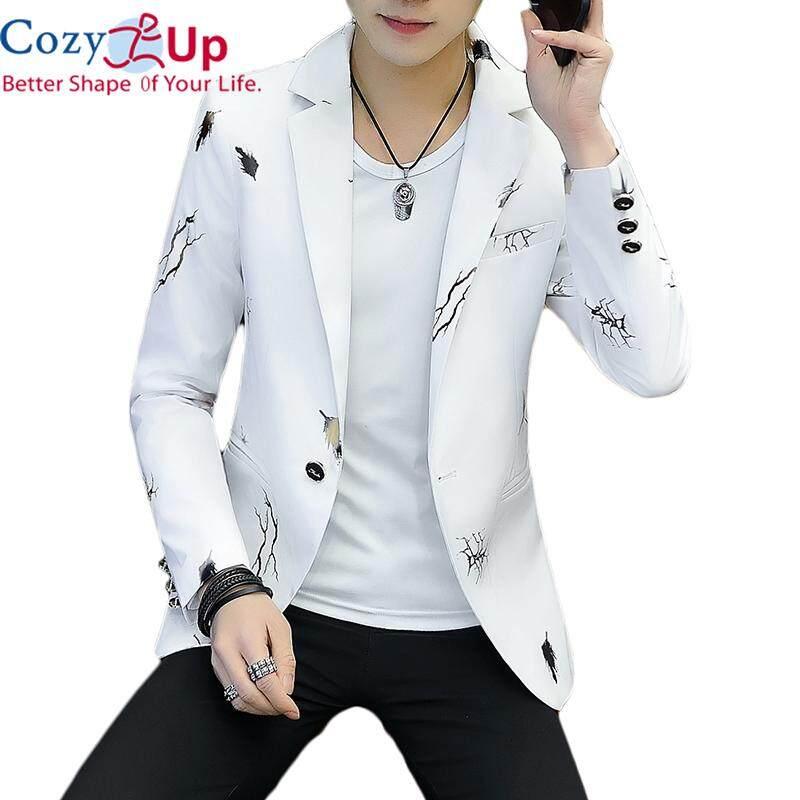 Áo khoác blazer vest dành cho nam form ôm vừa người họa tiết thanh lịch Cozy Up
