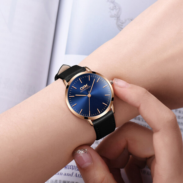 OPK Womens Watch Original  Fashion waterproof quartz watch Breathable leather strap Quality glass mirror Simple and wild Leisure business Malaysia