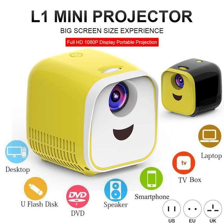 Deal Ưu Đãi Máy Chiếu Mini L1 1080P Full HD LED Máy Chiếu Phim Gia Đình Máy Chiếu Video Với Cáp HDMI Cho USB TF TV Máy Tính Xách Tay Chơi Game