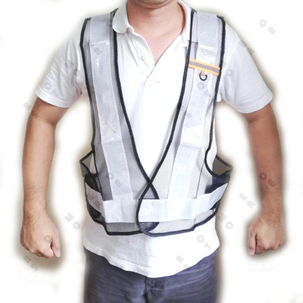 Black Mesh Safety Security Visibility Reflective Vest Gear