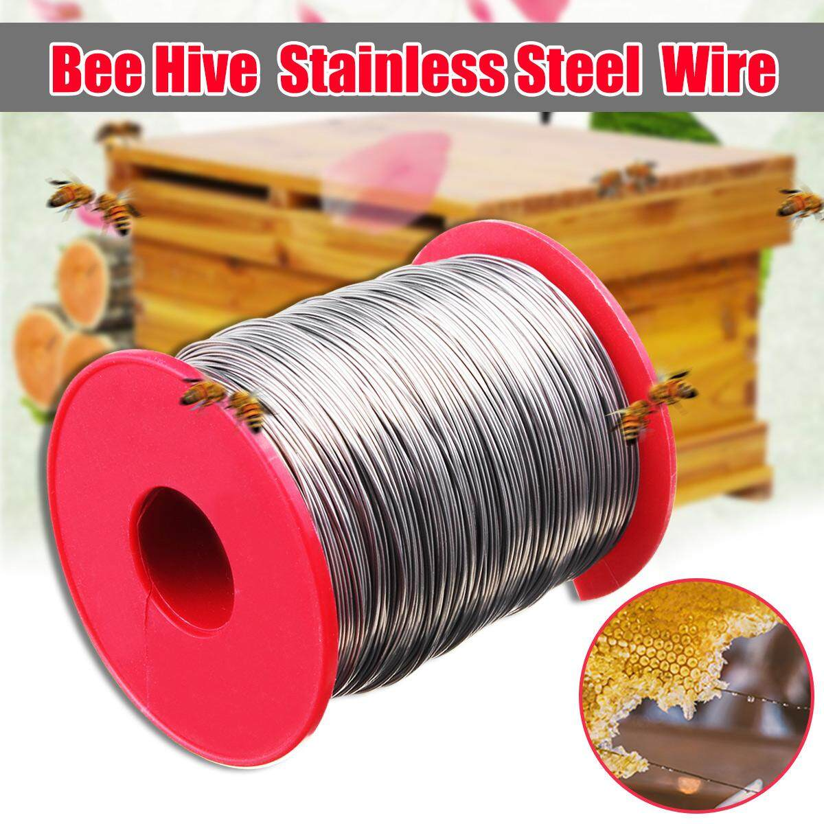 500g 0.5mm Stainless Steel Bee Hive Frame Wax Foundation Wire Keeping Roll