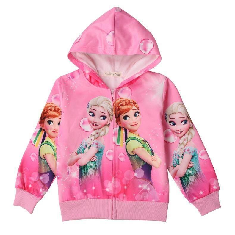 Giá bán Trẻ em Bé Gái Disney hoạt hình Frozen Anne và Elsa tay Dài áo khoác ngoài