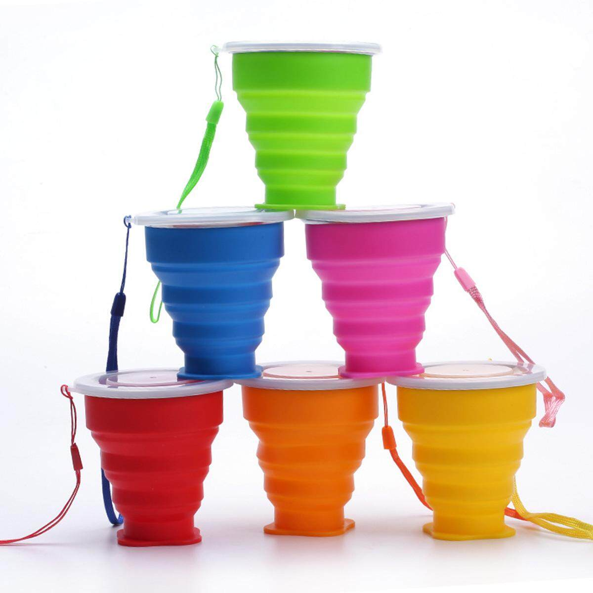 Silicone Retractable Folding Cup 1 Collapsible Travel Camping 200ml By Sunnny2015.