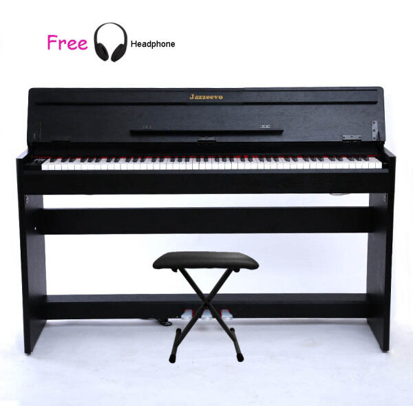 Exam/ Master Grade 88 Keys Digita Piano Fully Weighted Full Size Key Hammer Action Weighted Keys Jazzeevo J-7 Clamshell Cover Authentic Sound Quality Malaysia
